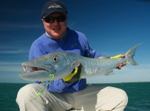"Ted Margo with a 47"" cuda on FLY!"